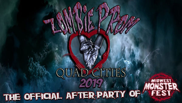 The Official After-Party for Midwest Monster Fest! Zombie Prom QC, in Moline, IL, gives you a chance to re-live that classic High School formal with a fun and ghoulish twist. Mark your calendar for Saturday, September 14th, 2019!