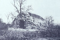 The original powder magazine at the fort after falling into ruin.