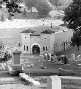 The old public mausoleum at Greenwood is remembered as one of its most haunted spots. Sadly, it no longer remains today.. although its destruction is a ghost story in itself!