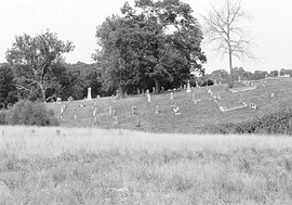 On this hill is where the Greenwood Ghost Lights have been reported for decades... they remain one of the cemetery's enduring mysteries.