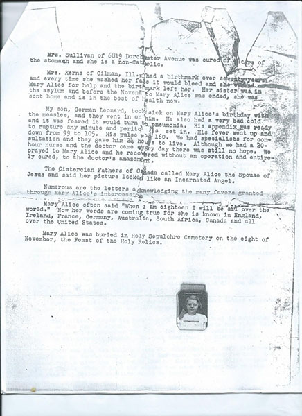 Mary Alice Quinn's mother's letter. Page 4 of 4.