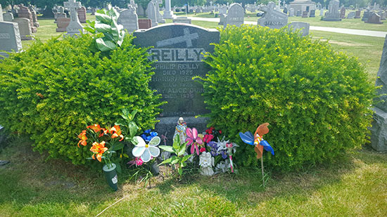 HauntedIllinois.com - Edward Shanahan's Review of the haunted grave site of Chicago Miracle Child Mary Alice Quinn, at Holy Sepulcher Cemetery in Chicago Ridge, Illinois. The story also includes her mother's letter.
