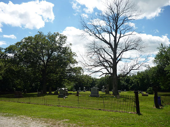 HauntedIllinois.com - Troy Taylor's Review of Peck Cemetery in Argenta, Illinois near Oakley and Cerro Gordo.